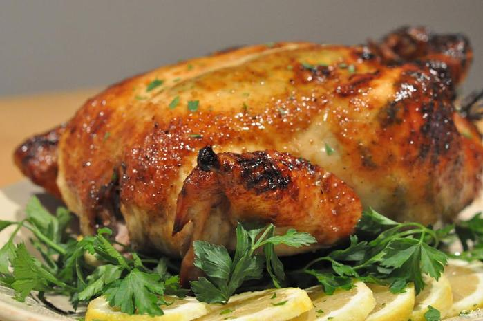 Как зажарить в духовке курицу с хрустящей корочкой