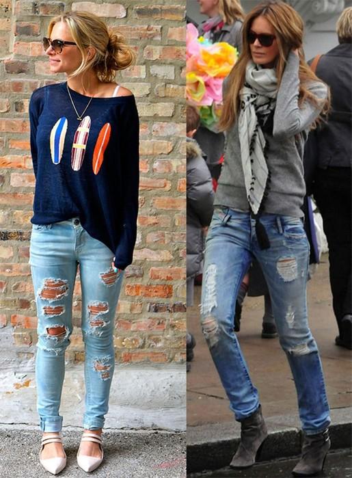 Как появилась мода на рваные джинсы? Кому они подходят