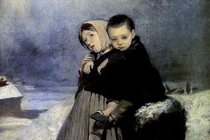 Описание картины Перова «Дети сироты на кладбище» (1864) и других картин художника