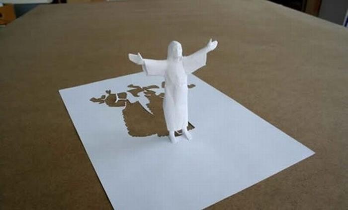 Потрясающие скульптуры из одного листка бумаги