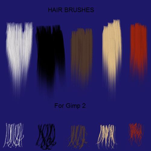5 Hair Brushes For Gimp2 By Jddndrbz On DeviantArt