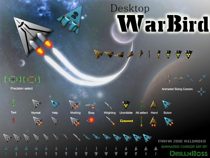 Desktop WarBird Cursor - SkinPack - Customize Your Digital World