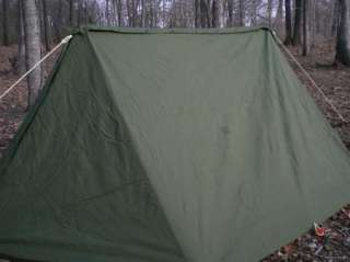 Inspirational Us Army Pup Tent Complete Genuine Issue