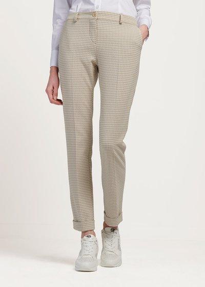 Pantalone modello Bella fantasia check - White / Beige Fantasia - Immagine categoria