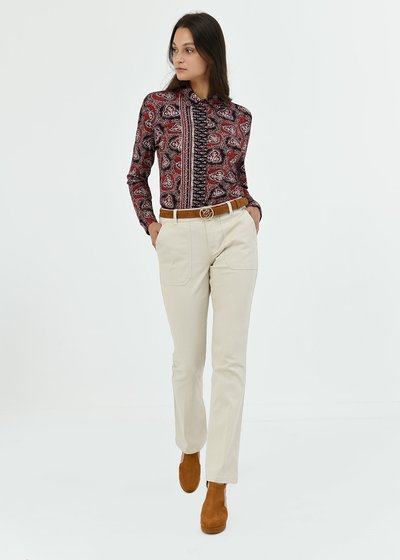 Pantalone Pagor in cotone gamba dritta - Light Beige - Immagine categoria