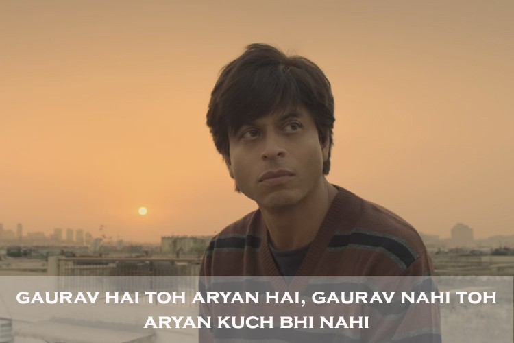 Image result for fan shahrukh khan gaurav quotes