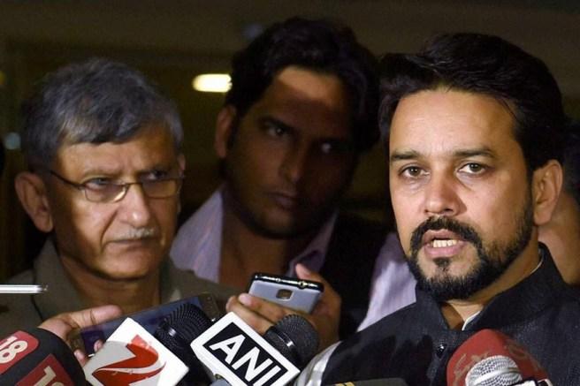 File Image of Anurag Thakur (R) and Ajay Shirke.