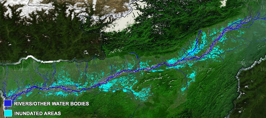 Assam floods 2017 - Inundated areas