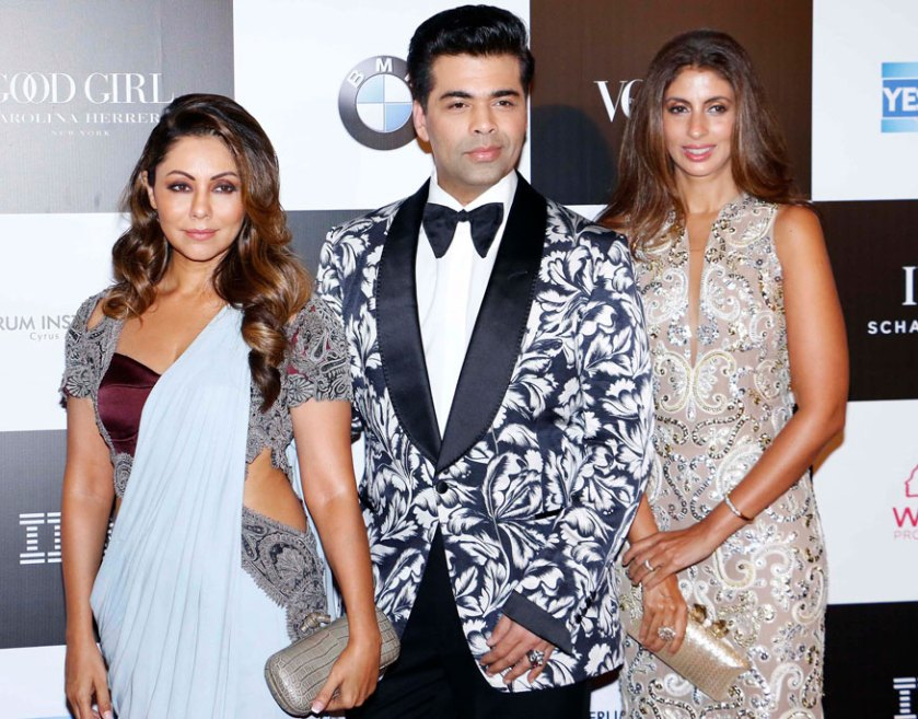 Gauri Khan, Karan Johar and Shweta Bachchan Nanda attend the 'Vogue Women of the Year Awards 2017' at Grand Hyatt Hotel On Sunday, September 24, 2017 in Mumbai. (Image: Yogen Shah)