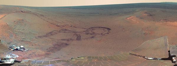 El rastro del hombre sobre Marte