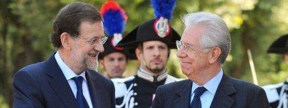 Rajoy y Monti refuerzan su cooperación frente a la crisis de la zona euro