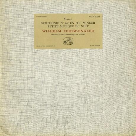 FR VSM FALP30033 ヴィルヘルム・フルトヴェングラー モーツァルト・交響曲40番