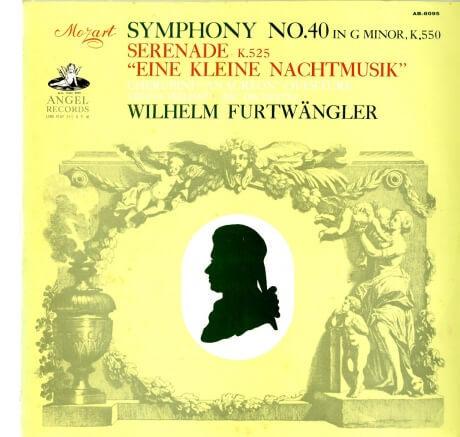 JP 東芝AB8095 フルトヴェングラー モーツァルト 小夜曲&交響曲40番(輸入メタル使用盤)