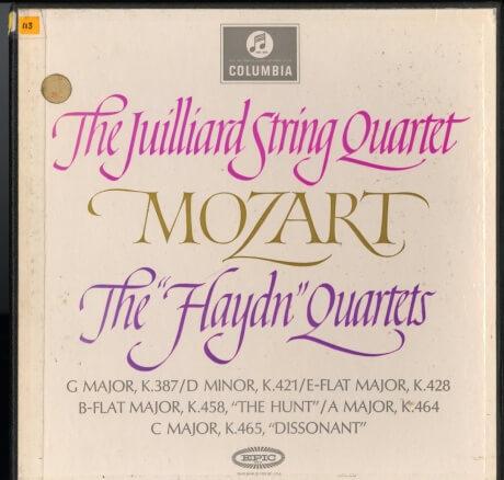 GB COL CX1826-8 ジュリアード弦楽四重奏団 モーツァルト・弦楽四重奏曲14-19番「ハイドンセット」