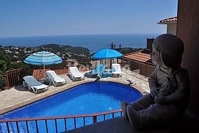 Villa 8 personas, vistas al mar, a 2 km de la playa Girona/Gerona