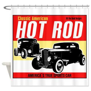 classic hot rods shower curtain use code freecart at checkout
