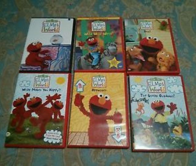 Lot Of 6 Elmos World Dvd Elmo Dvds Pets Opposites Wild West Sesame Street
