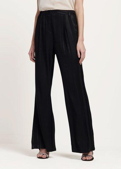 Pantalone Portos tessuto rigato - Black - Immagine categoria