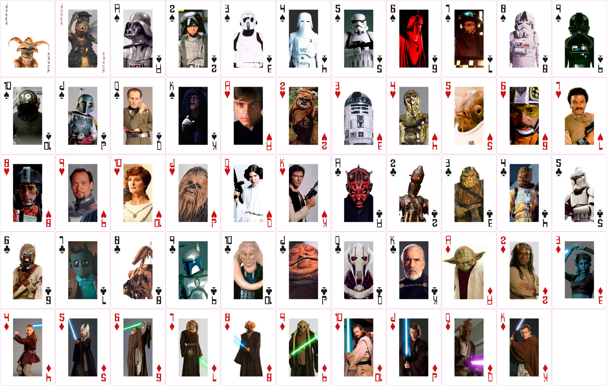 Star Wars Playing Cards By Jamesrudge On Deviantart