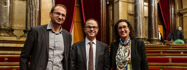 La delegación catalana pretende hacer pedagogía y constatar que el problema catalán es español