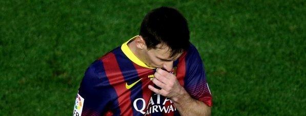 Messi, desaparecido ante el Real Madrid