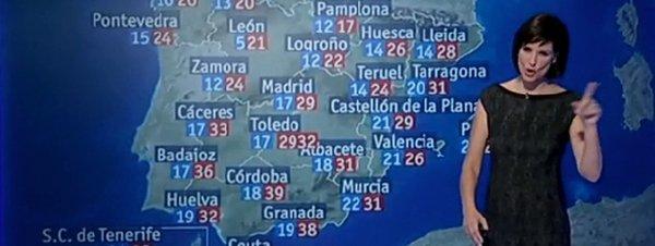 'El Tiempo' de TVE pone de máxima 2.932 grados en Toledo