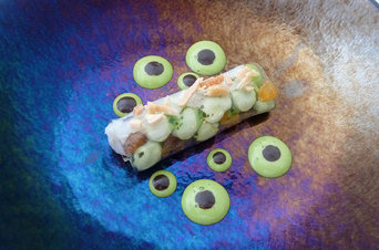 One of the dishes offered Carme Ruscalleda at Sant Pau restaurant photo