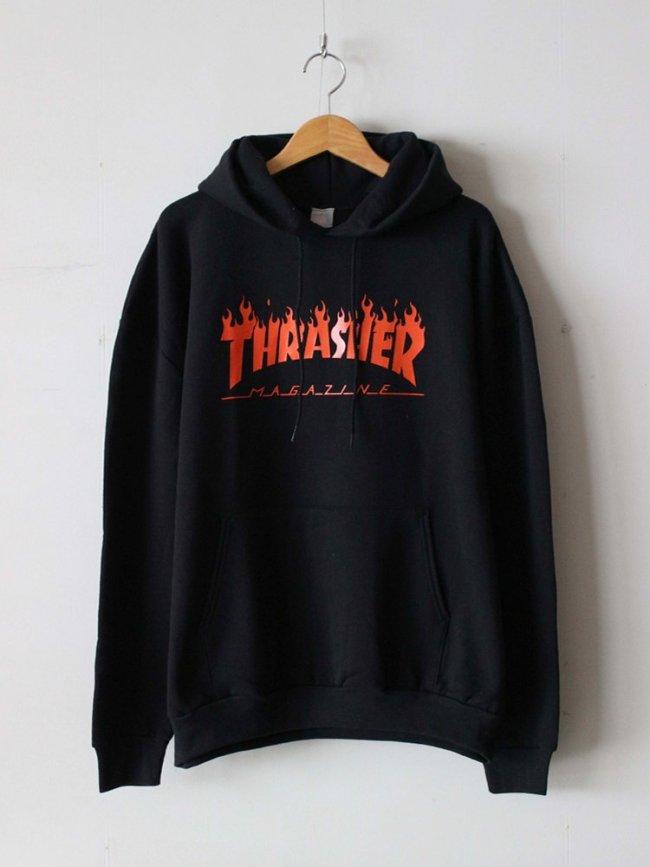 JACKSON MATISSE|THRASHER FLAME LOGO Parka #Black