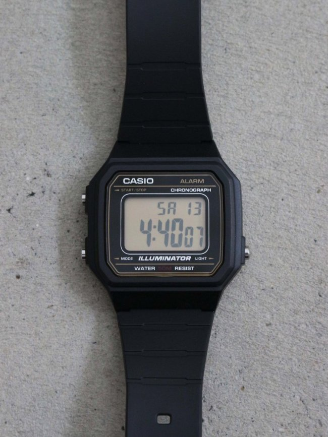 CASIO|STANDARD DIGITAL RUBBER #BLACK