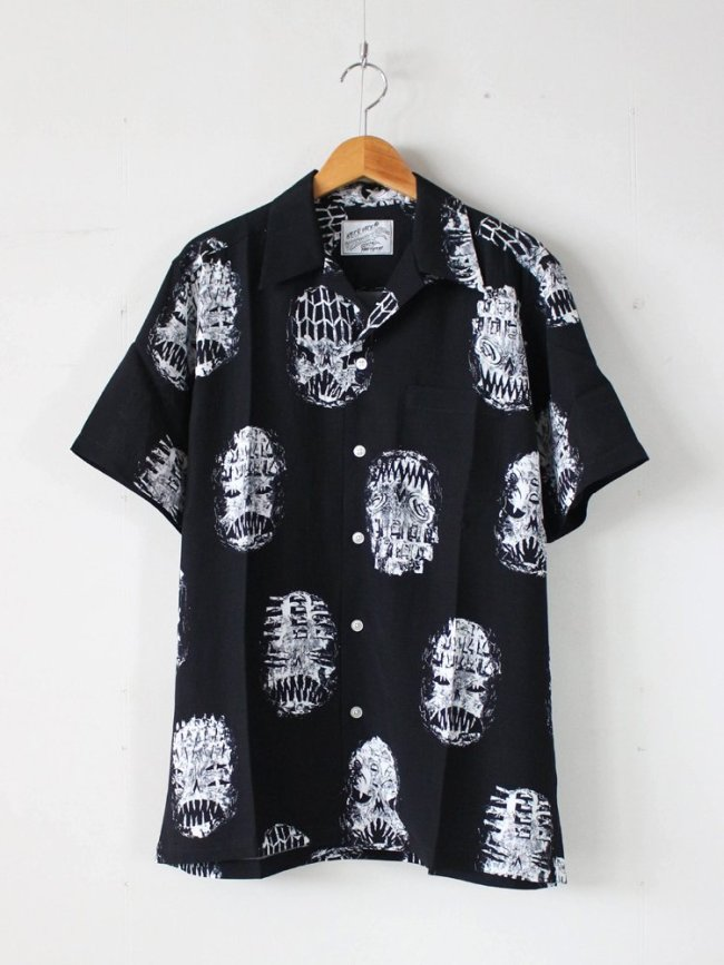 WACKO MARIA|NECK FACE | S/S HAWAIIAN SHIRT (TYPE 1) #BLACK [NECKFACE-WM-HI07]