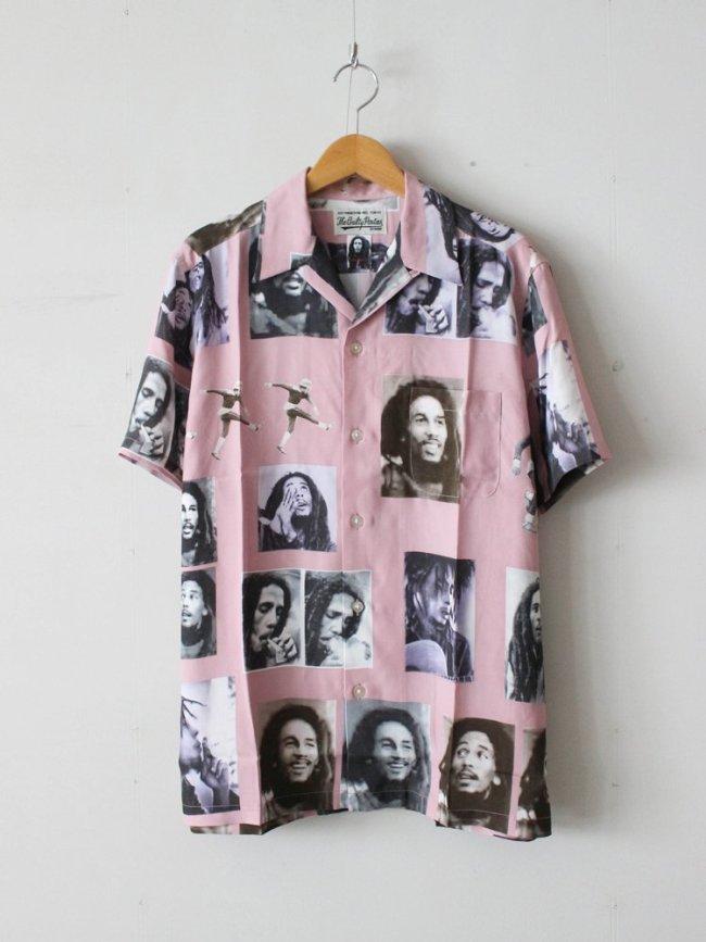 WACKO MARIA BOB MARLEY   S/S HAWAIIAN SHIRT #PINK [BOBMARLEY-WM-HI02]