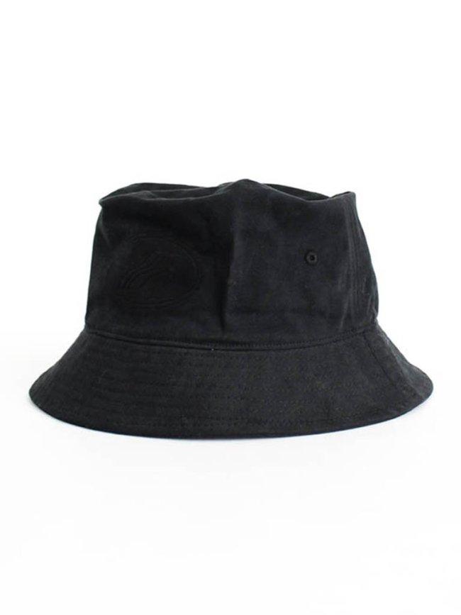 WE11DONE COTTON EMBOSSED LOGO BUCKET HAT #BLACK [WD-AH8-20-114-U]