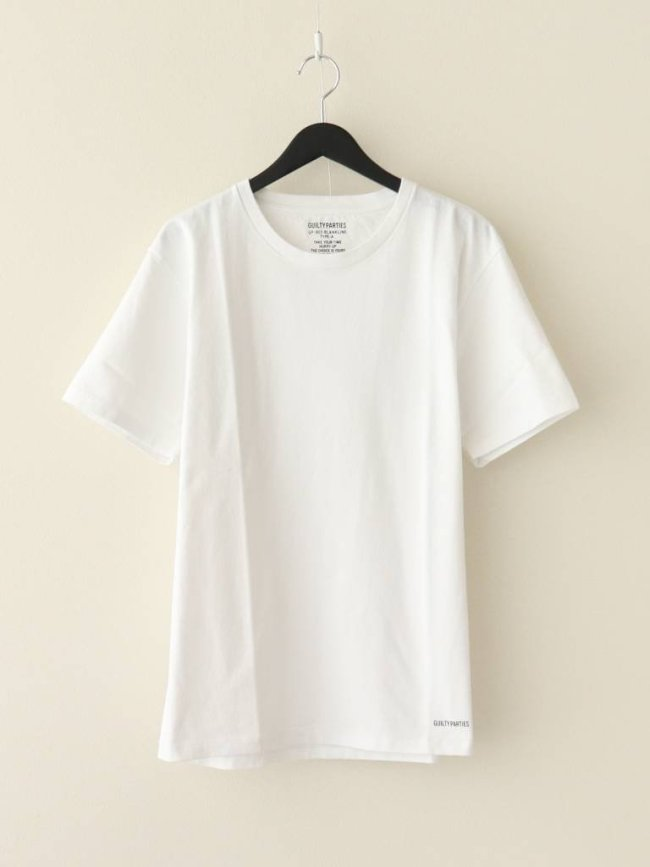 WACKO MARIA HEAVY WEIGHT CREW NECK T-SHIRT #WHITE [GP-003-BLANKLINE-TYP]