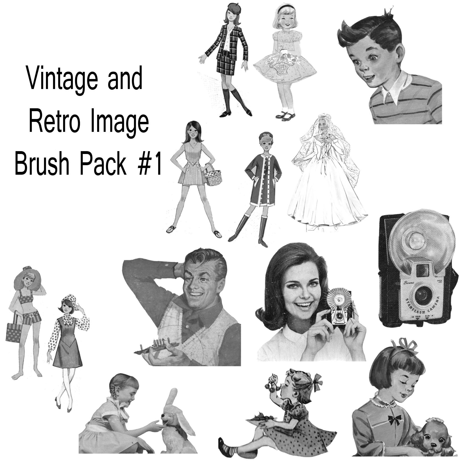 Retro And Vintage Brush Pack 1 By Jonathanhasenfus On
