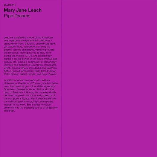 MARY JANE LEACH / Pipe Dreams (LP)