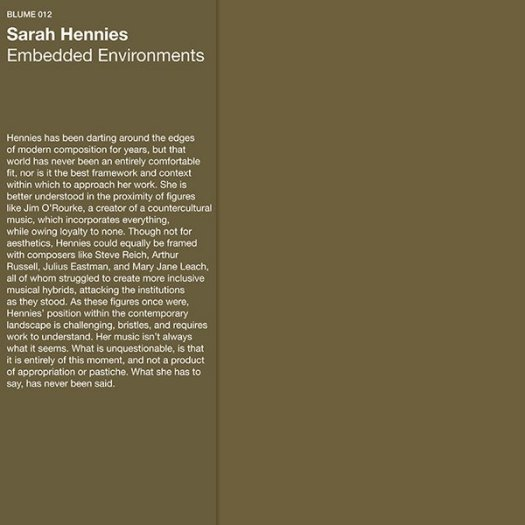 SARAH HENNIES / Embedded Environments (LP)