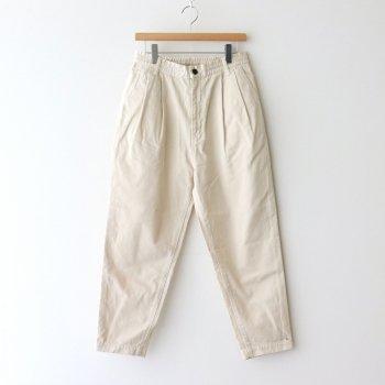HARVESTY | ハーベスティ _ EASY EGG PANTS CHINO CLOTH GARMENT DYED #IVORY [A11913]
