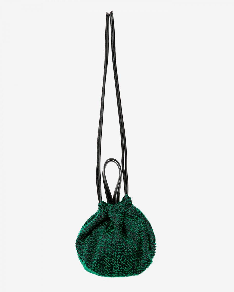 LASTFRAME ニードルパンチ巾着バッグ グリーンの写真