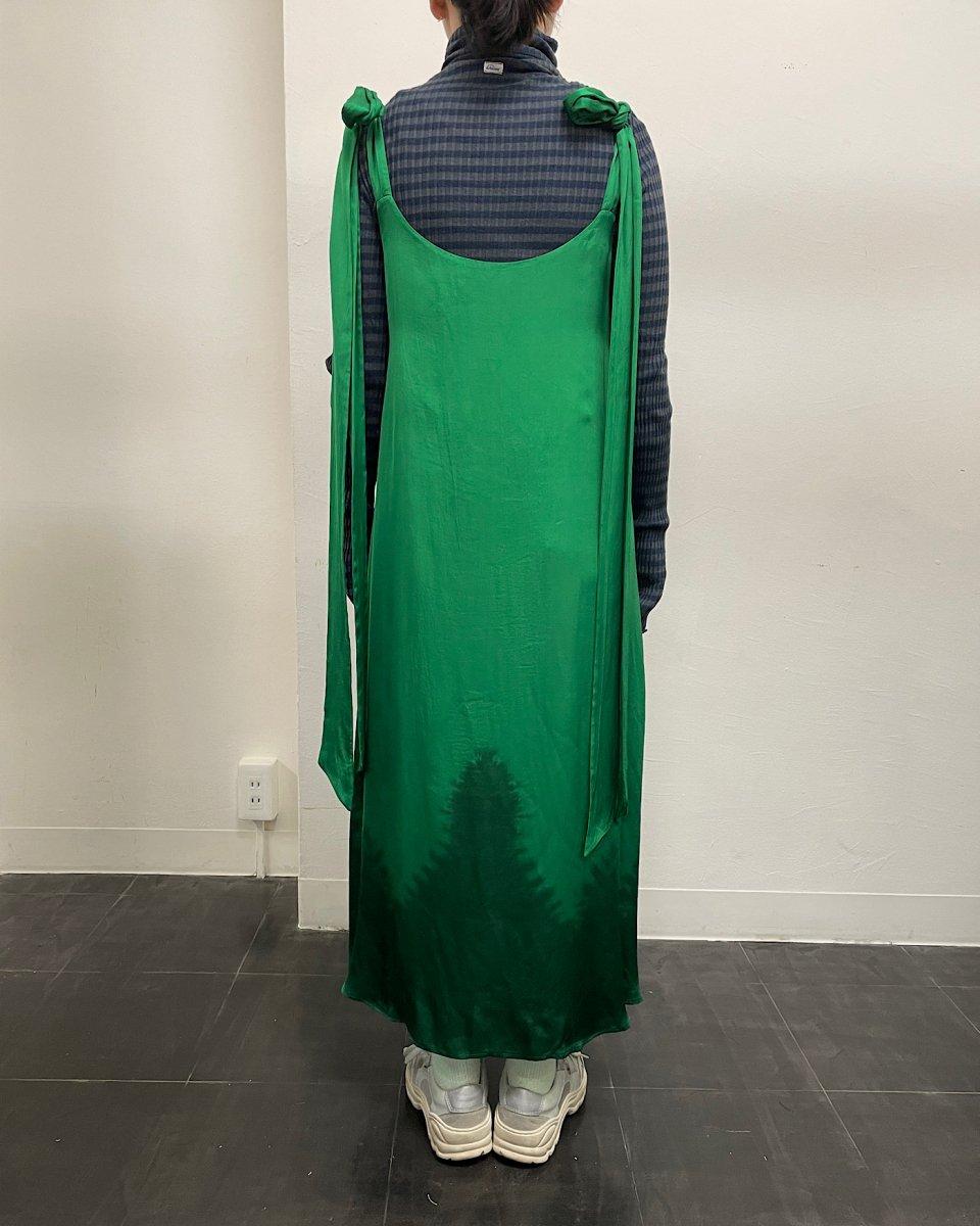 ディップダイスリップドレス グリーンの写真
