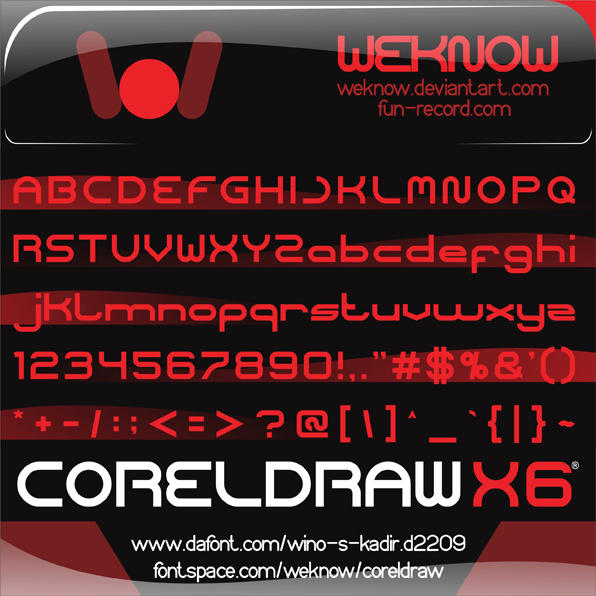 Download coreldraw font by weknow by weknow on DeviantArt