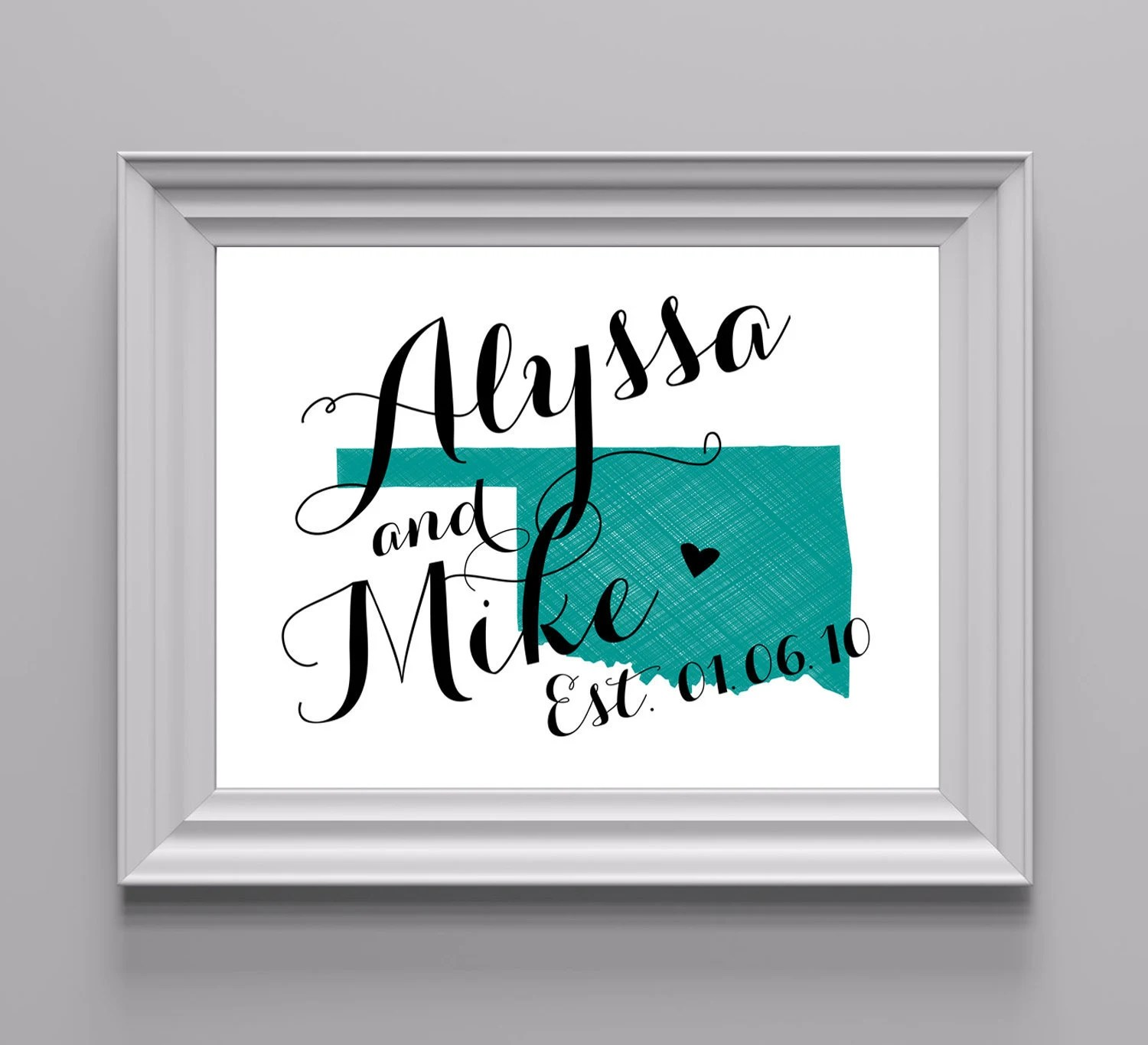 DIY PRINTABLE Custom State Art Print 8x10 - State Love