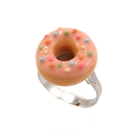 Scented Strawberry Sprinkles Donut Ring