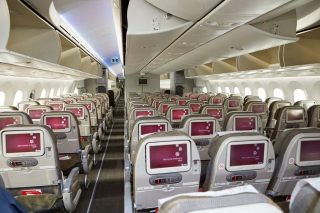 Kenya Airways Economy seating still provides spacious accommodations for passengers