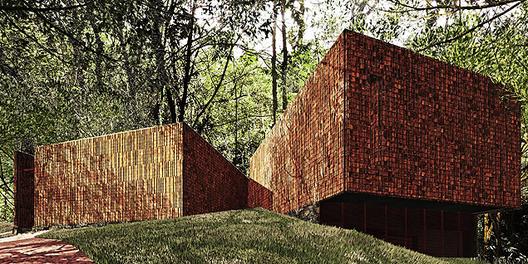 Pavilhão dedicado à obra de Claudia Andujar, projetado pelos Arquitetos Associados. Image Courtesy of folha.uol