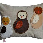 Barn Owlets Cushion