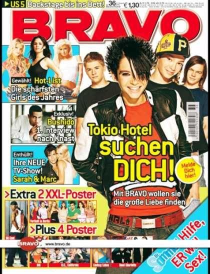 Tokio Hotel - Bravo Magazine Cover [Germany] (31 August 2005)
