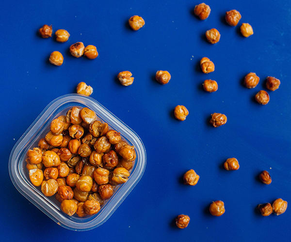 Late Summer Meal Prep for the 1,500-1,800 Calorie Level Roasted Chickpeas