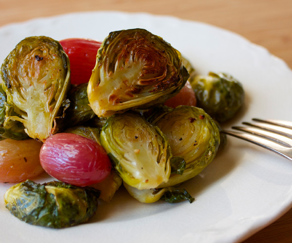 Brussels Sprouts with Roasted Grapes