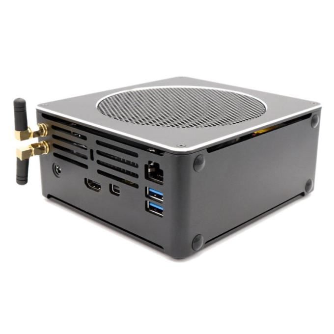 HYSTOU Mini PC S200 i7 8750H 16GB+256GB/16GB+512GB Dual Wi Pro 2* UHD Graphics 630 Fan Mini Desktop PC M.2 SATA MIC VGA 4K HDMI