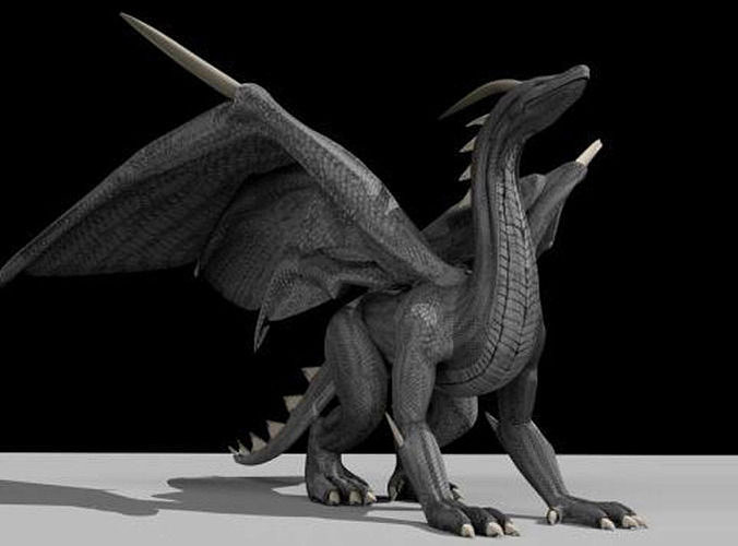 Black Dragon Rigged And Game Ready 3D Model CGTrader
